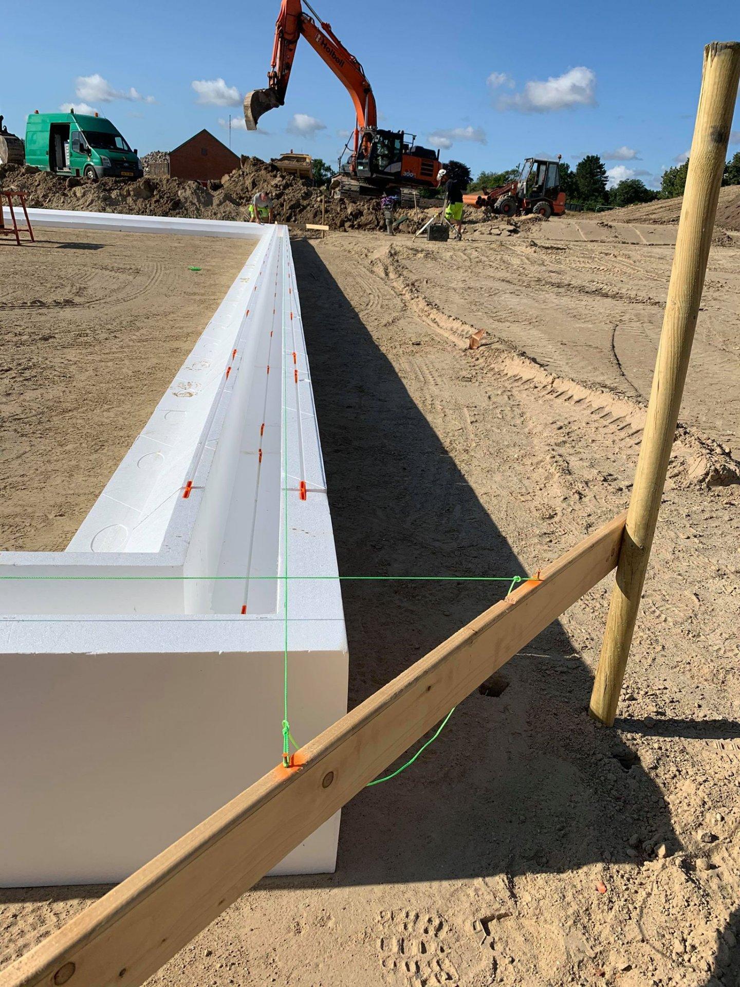 Beton-arbejde | Terrændæk støbning | Byggemodning af Gaulumparken | Holbøll A/S