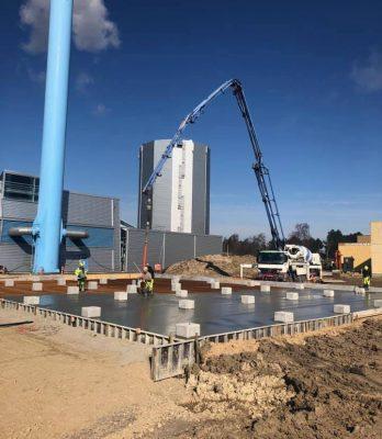 Kraftvarmeværk | Holbøll etablerer punktfundamenter og betondæk