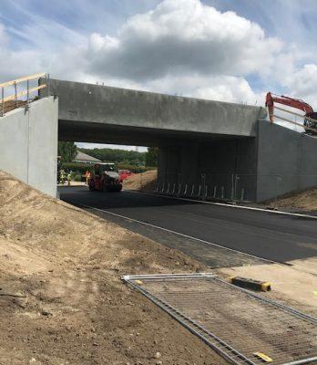 Sandbyvej | Holbøll etablerer banedæmning