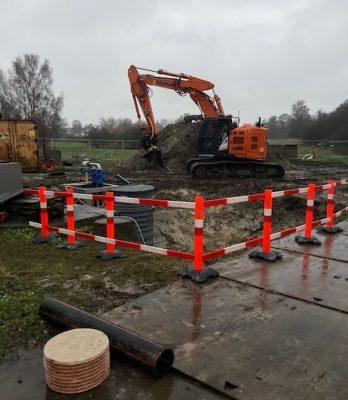 Maribo Pumpestation, Holbøll etablerer pumpestation og regnvandsbassin